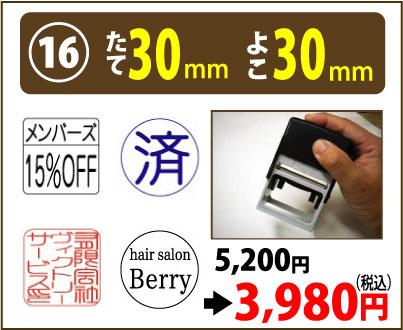 画像1: たて30mm よこ30mm(インク内蔵式スタンプ) (1)
