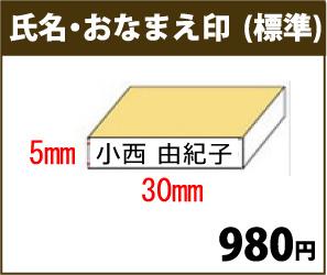 画像1: おなまえ1行印(5mm×30mm)標準サイズ (1)